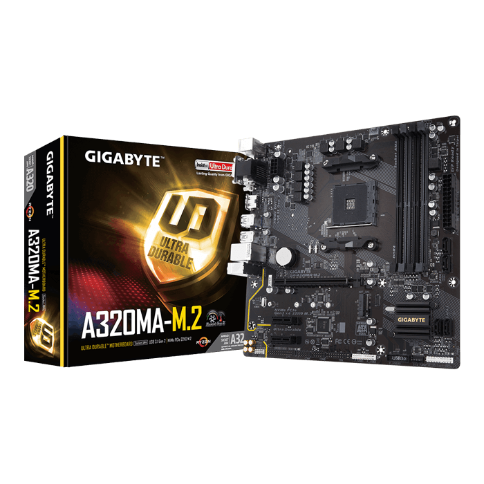 GA-A320MA-M.2, AMD A320 Chipset, AM4, HDMI, microATX Motherboard