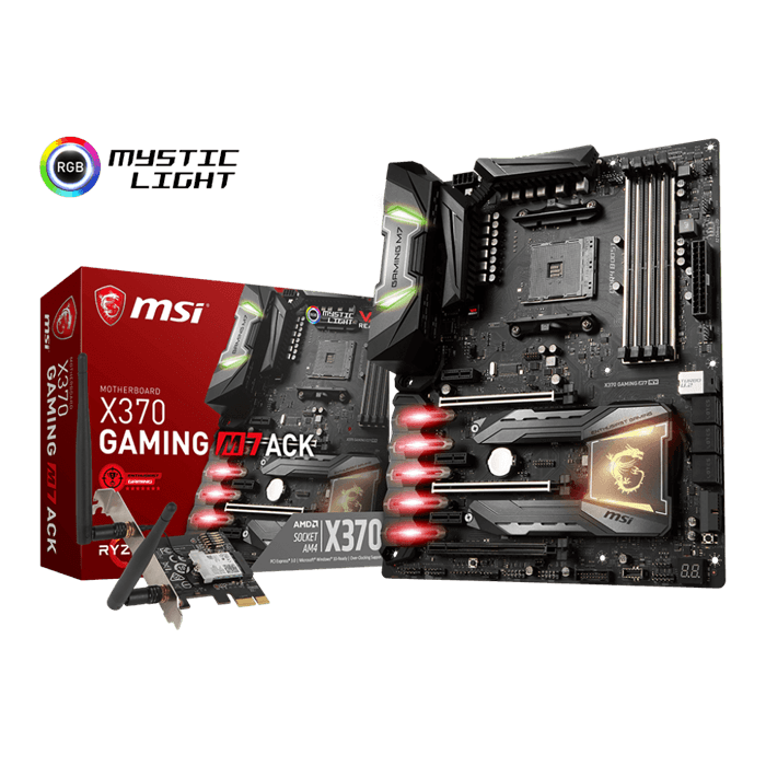 X370 GAMING M7 ACK, AMD X370 Chipset, AM4, ATX Motherboard