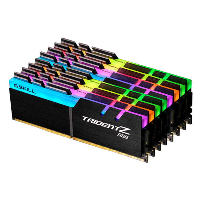 128GB Kit (8 x 16GB) Trident Z RGB DDR4 3466MHz, CL16, Black, RGB LED, DIMM Memory