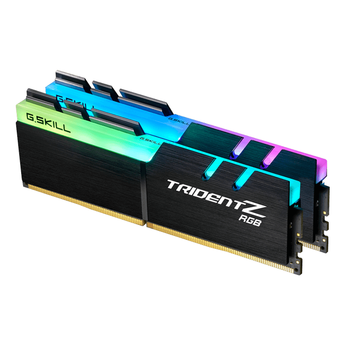 32GB Kit (2 x 16GB) Trident Z RGB DDR4 3866MHz, CL18, Black, RGB LED, DIMM Memory
