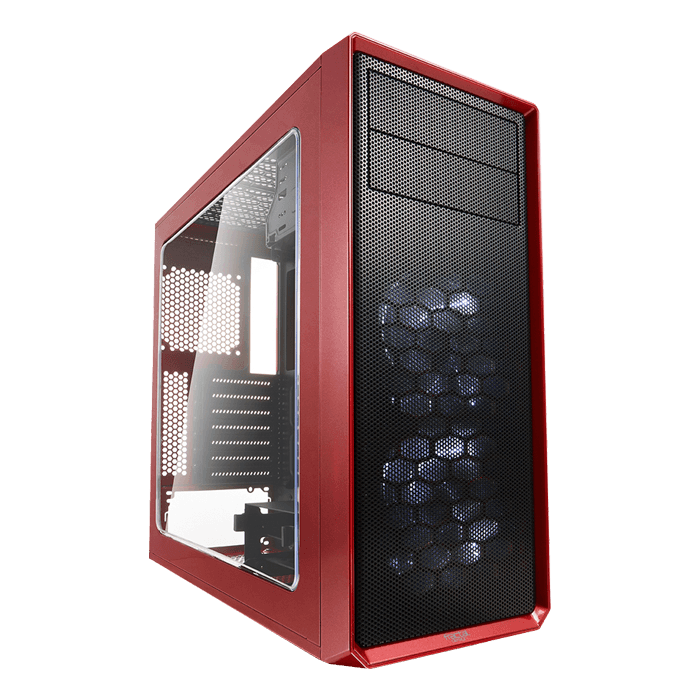Focus G - Mystic Red w/ Window, No PSU, ATX, Mid Tower Case