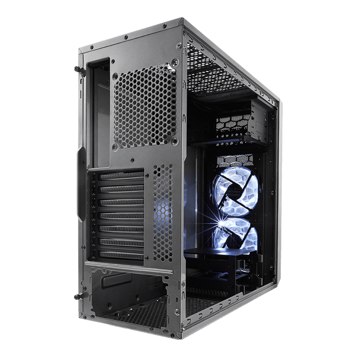Focus Series G Gunmetal Gray w/ Window, No PSU, ATX, Mid Tower Case