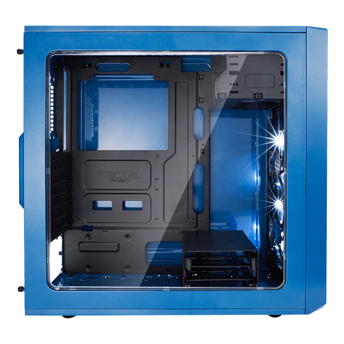 Focus G - Petrol Blue w/ Window, No PSU, ATX, Mid Tower Case