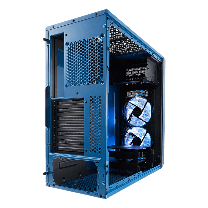 Focus Series G Petrol Blue w/ Window, No PSU, ATX, Mid Tower Case