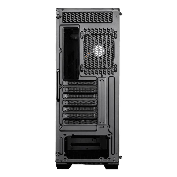 EARLKASE RGB Tempered Glass, No PSU, ATX, Black, Mid Tower Case