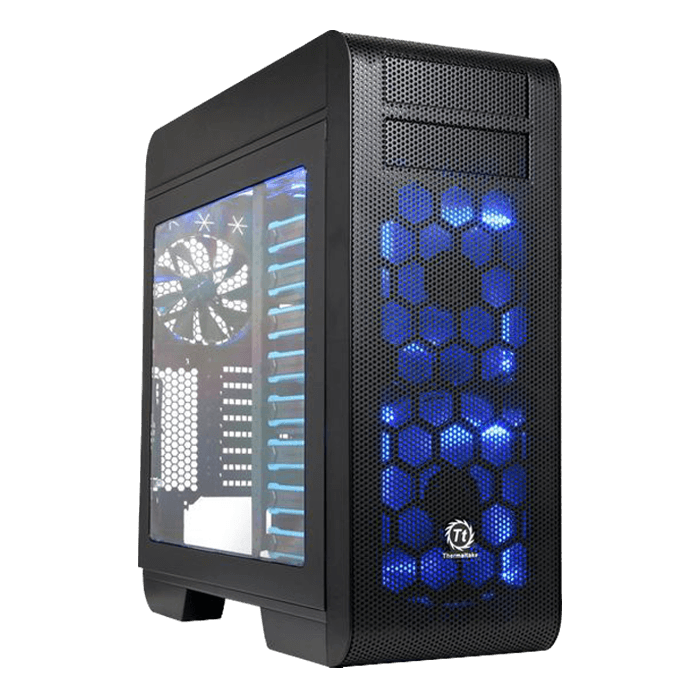 Core V71 Tempered Glass, No PSU, E-ATX, Black, Full Tower Case