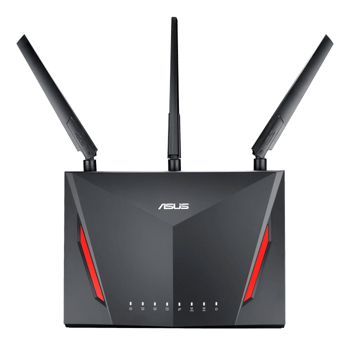RT-AC86U, IEEE 802.11ac, Dual-Band 2.4 / 5GHz, 750 / 2167 Mbps, 4xRJ45, 1x USB 2.0, 1x USB 3.0, Retail Wireless Router