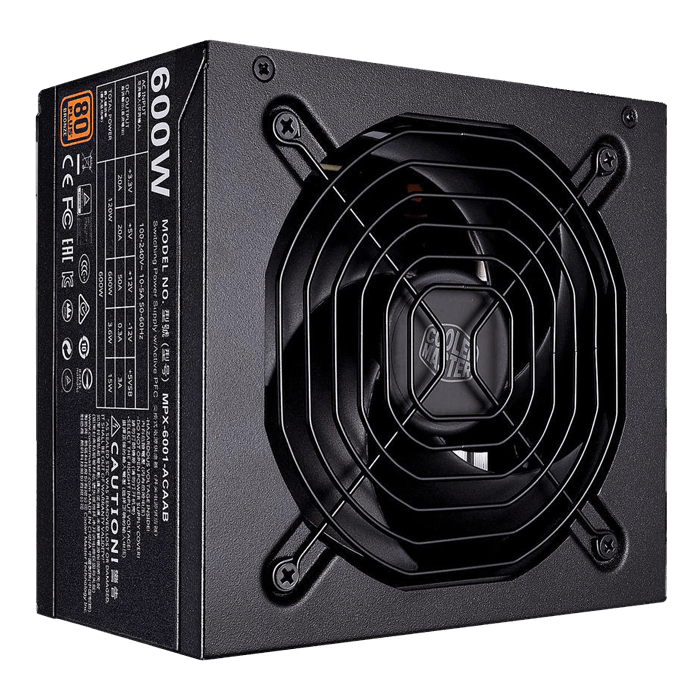 MWE Bronze 600, 80 PLUS Bronze 600W, No Modular, ATX Power Supply