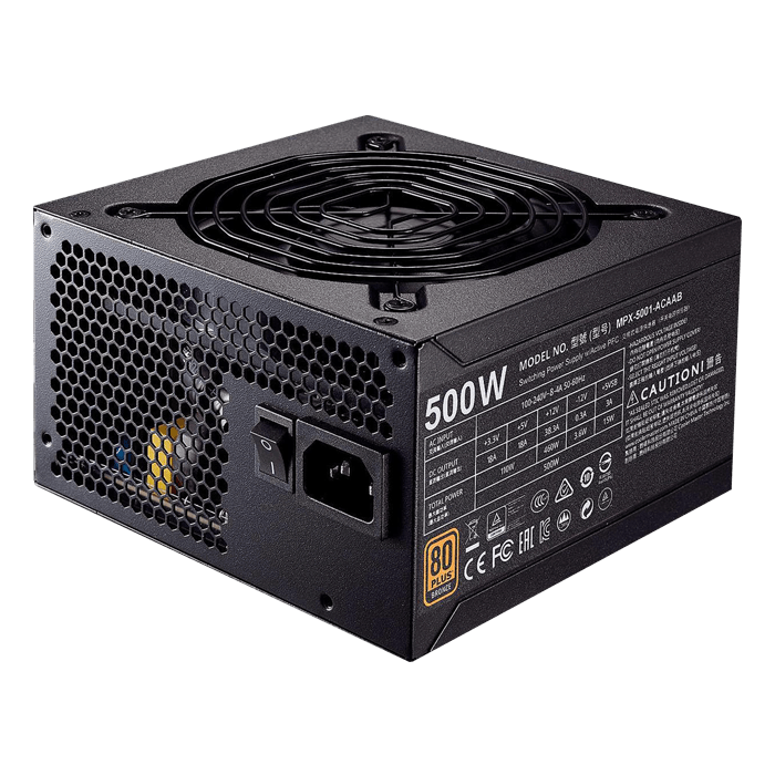 MWE Bronze 500, 80 PLUS Bronze 500W, No Modular, ATX Power Supply