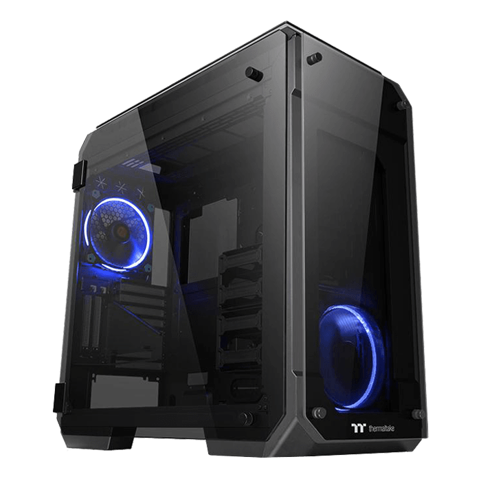 View 71 Tempered Glass, No PSU, E-ATX, Black, Full Tower Case