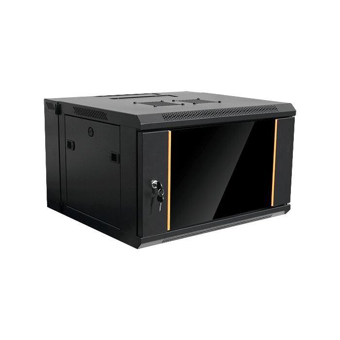 WMZ655-SFH25, 6U, 550mm Depth, Swing-out Wallmount Server Cabinet with 1U Tray