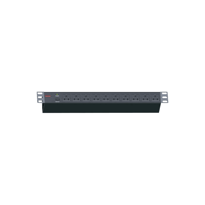 WM1260-PD10, 12U, 600mm Depth, Wallmount Server Cabinet with 1U 10-outlet Overload Protection PDU