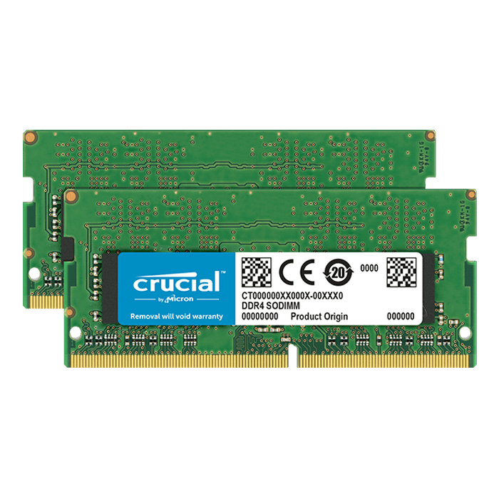 32GB Kit (2 x 16GB) DDR4 2666MHz, CL19, SO-DIMM Memory