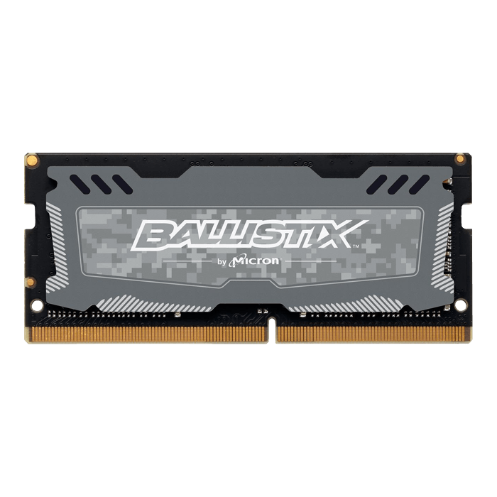 16GB Ballistix Sport LT DDR4 2666MHz, CL16, Grey, SO-DIMM Memory