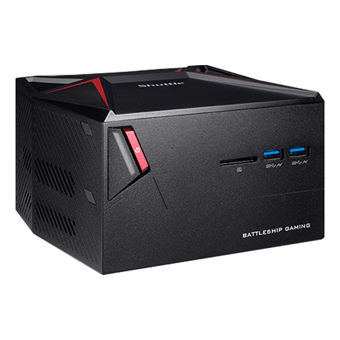 "Shuttle X1 (DKA1GH5), Intel Core i5-7300HQ, 2x DDR4 SO-DIMM (2 x 4GB pre-installed), M.2 (128GB pre-installed), 2.5"" HDD/SSD (1TB HDD pre-installed), NVIDIA® GeForce GTX 1060 3GB, Mini PC Barebone"