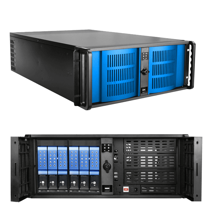 Intel C621 3-way GPU 4U Rack Workstation
