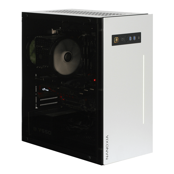 Project S Silver, Tempered Glass, No PSU, ATX, HTPC/Tower Case