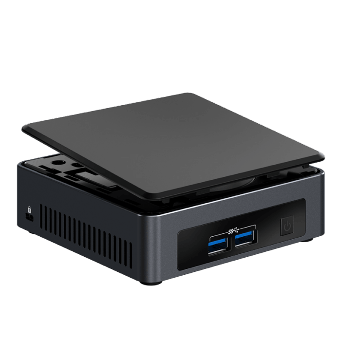 NUC7i3DNKE, Intel Core i3-7100U, 2x DDR4 SO-DIMM, M.2, Intel HD Graphics 620, Mini PC Barebone
