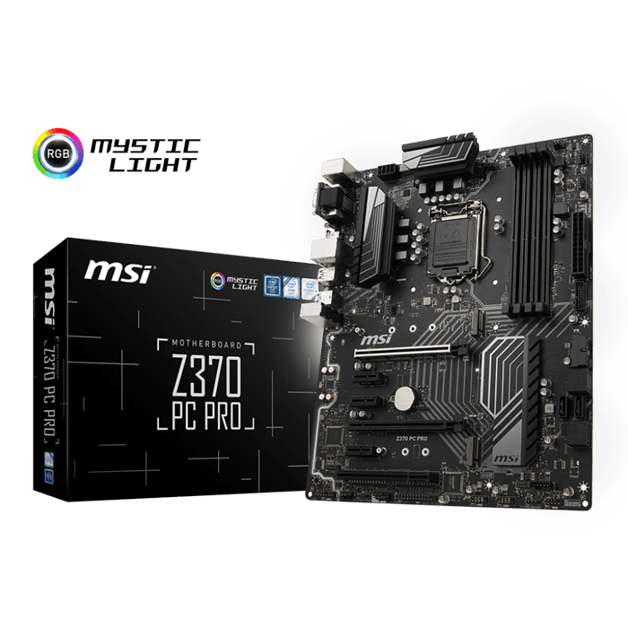 Z370 PC PRO, Intel Z370 Chipset, LGA 1151, HDMI, ATX Motherboard