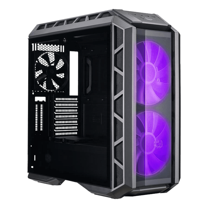 MasterCase Series H500P Tempered Glass, No PSU, ATX, Black, Mid Tower Case