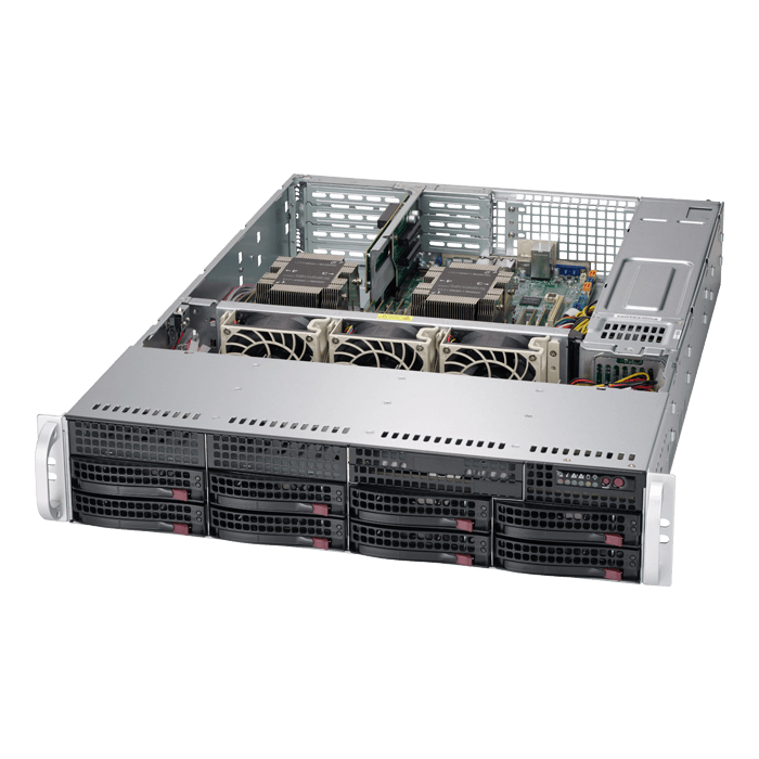 SuperServer 6029P-WTR, 2U, Intel C621, 10x SATA, 12x DDR4, Dual 1Gb Ethernet, 1200W Rdt PSU