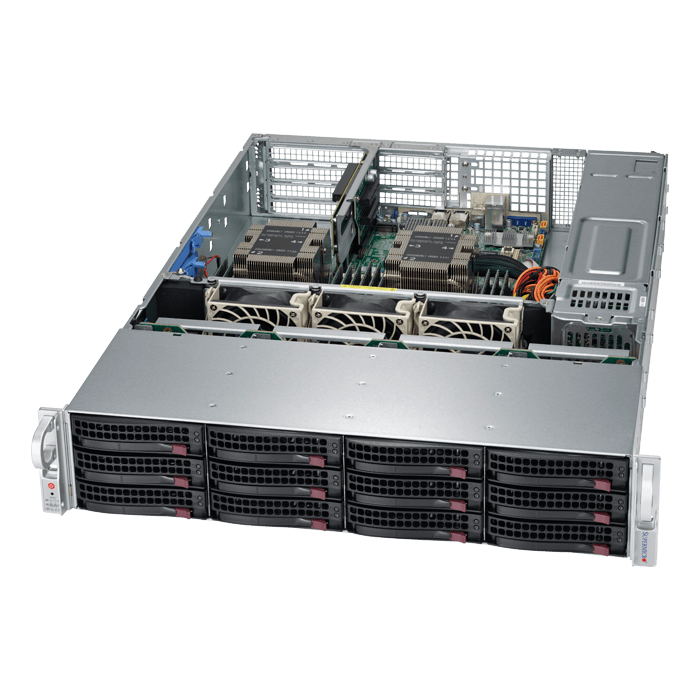 SuperServer 6029P-WTRT, 2U, Intel C622, 12x SATA, 12x DDR4, Dual 10Gb Ethernet, 1200W Rdt PSU