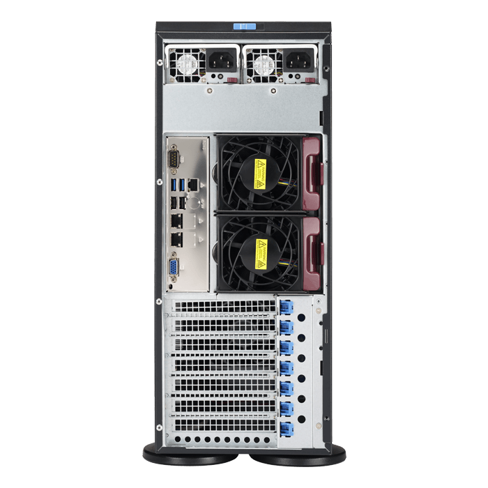SuperServer 7049P-TR, 4U Rackmount/Tower, Intel C621, 8x SATA, 16x DDR4, Dual 1Gb Ethernet, 1280W Rdt PSU
