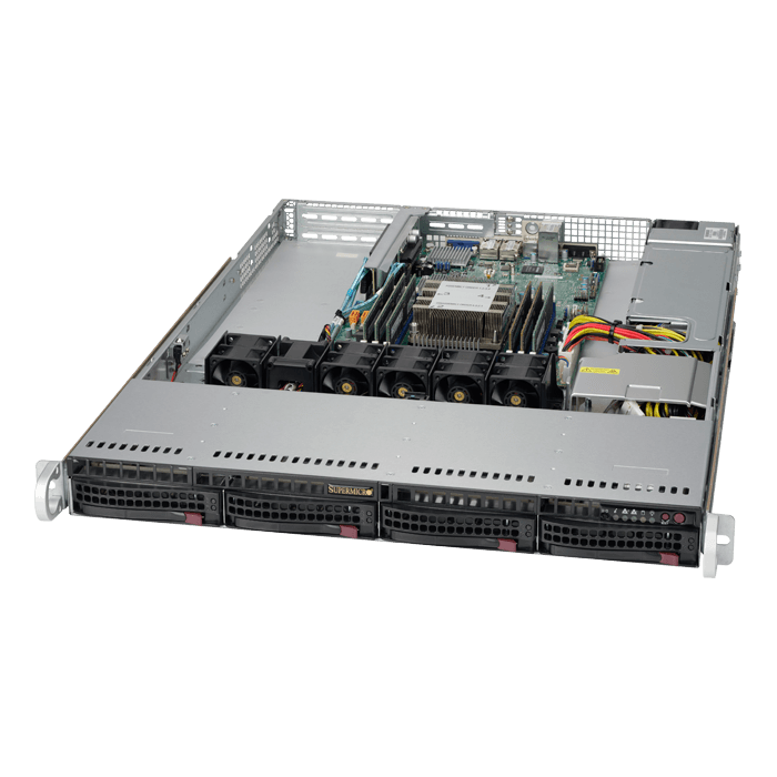 SuperServer 5019P-WT, 1U, Intel C622, 10x SATA, 6x DDR4, Dual 10Gb Ethernet, 600W PSU