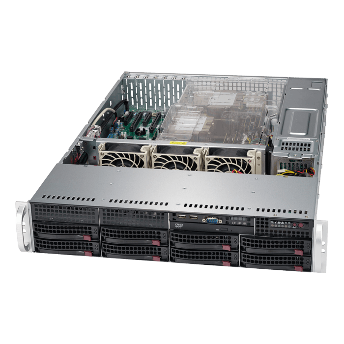SuperServer 6029P-TRT, 2U, Intel C622, 8x SATA, 16x DDR4, Dual 10Gb Ethernet, 1000W Rdt PSU