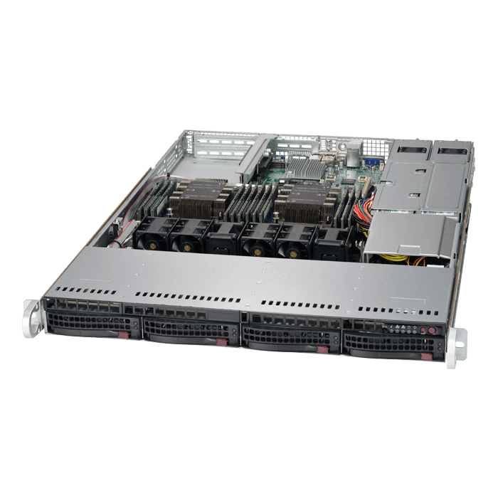 SuperServer 6019P-WTR, 1U, Intel C621, 4x SATA, 12x DDR4, Dual 1Gb Ethernet, 700W/750W Rdt PSU