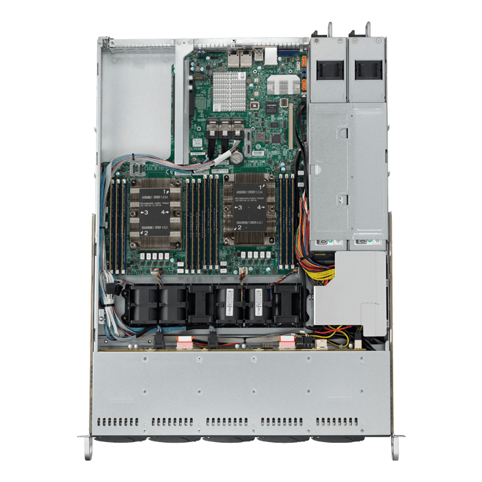 SuperServer 1029P-WTRT, 1U, Intel C622, 8x SATA, 2x NVMe, 12x DDR4, Dual 10Gb Ethernet, 700W/750W PSU