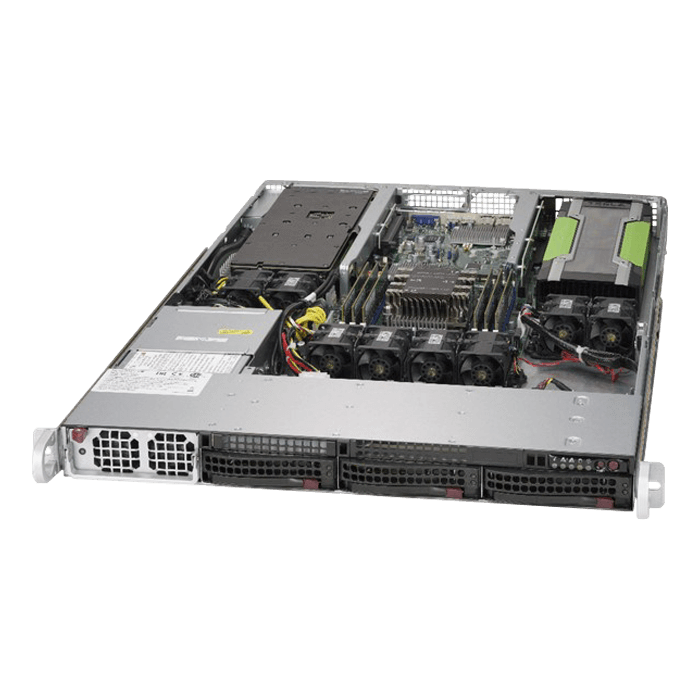 SuperServer 5019GP-TT, 1U, Intel C621, 3x SATA, 6x DDR4, Dual 10Gb Ethernet, 1400W PSU
