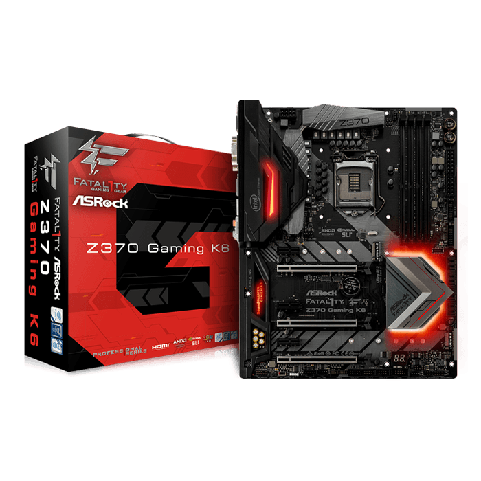 Fatal1ty Z370 Gaming K6, Intel Z370 Chipset, LGA 1151, HDMI, ATX Motherboard