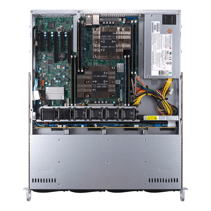 SuperServer 6019P-MT, 1U, Intel C621, 4x SATA, 8x DDR4, Dual 1Gb Ethernet, 500W PSU