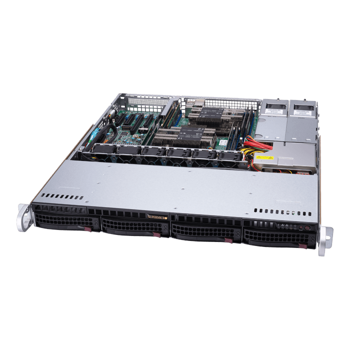 SuperServer 6019P-MTR, 1U, Intel C621, 4x SATA, 8x DDR4, Dual 1Gb Ethernet, 600W Rdt PSU