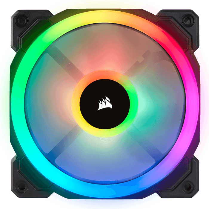 LL120 RGB 120mm w/ Dual Light Loop RGB LEDs, 1500 RPM, 43.25 CFM, 24.8 dBA, Cooling Fan