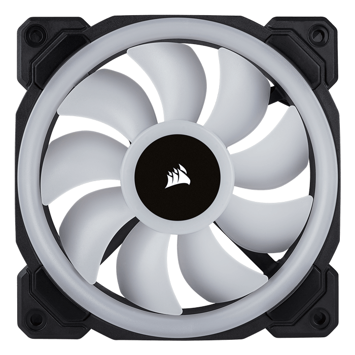 LL120 RGB 3 x 120mm, w/ Lighting Node PRO, 1500 RPM, 43.25 CFM, 24.8 dBA, Cooling Fan
