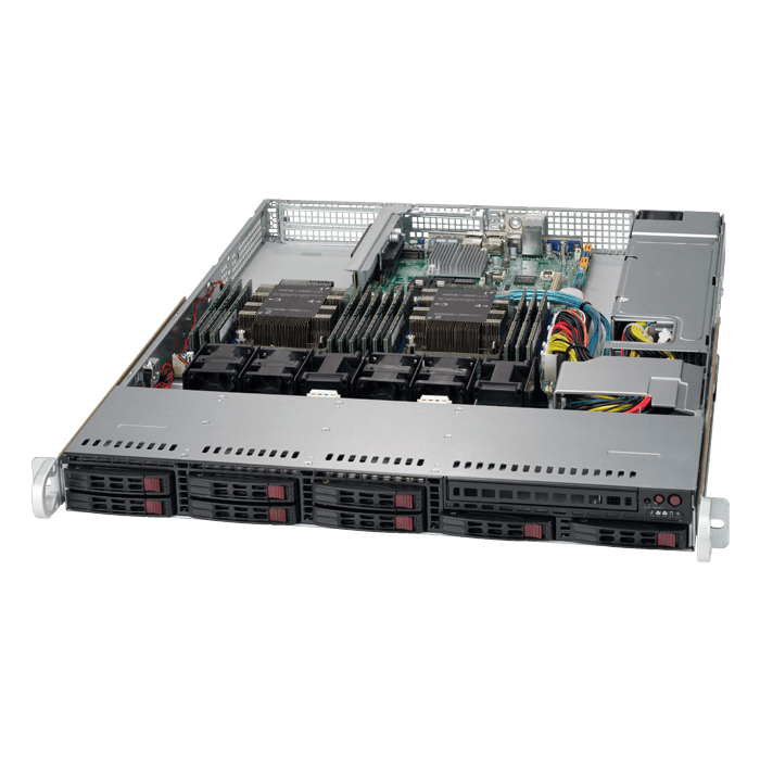 SuperServer 1029P-WT, 1U, Intel C621, 8x SATA, 12x DDR4, Dual 1Gb Ethernet, 600W PSU