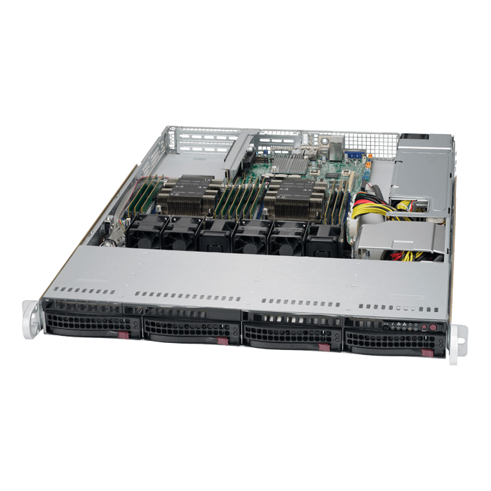 SuperServer 6019P-WT, 1U, Intel C621, 4x SATA, 12x DDR4, Dual 1Gb Ethernet, 600W PSU