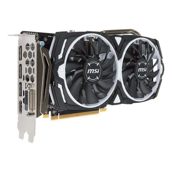 Radeon RX 570 ARMOR 8G OC, 1168 - 1268MHz, 8GB GDDR5, Graphics Card