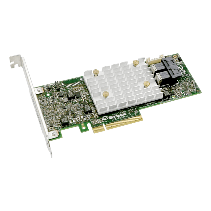 Adaptec SmartRAID 3154-8i, SAS 12Gb/s, 8-Port, PCIe 3.0 x8, Controller with 4GB Cache