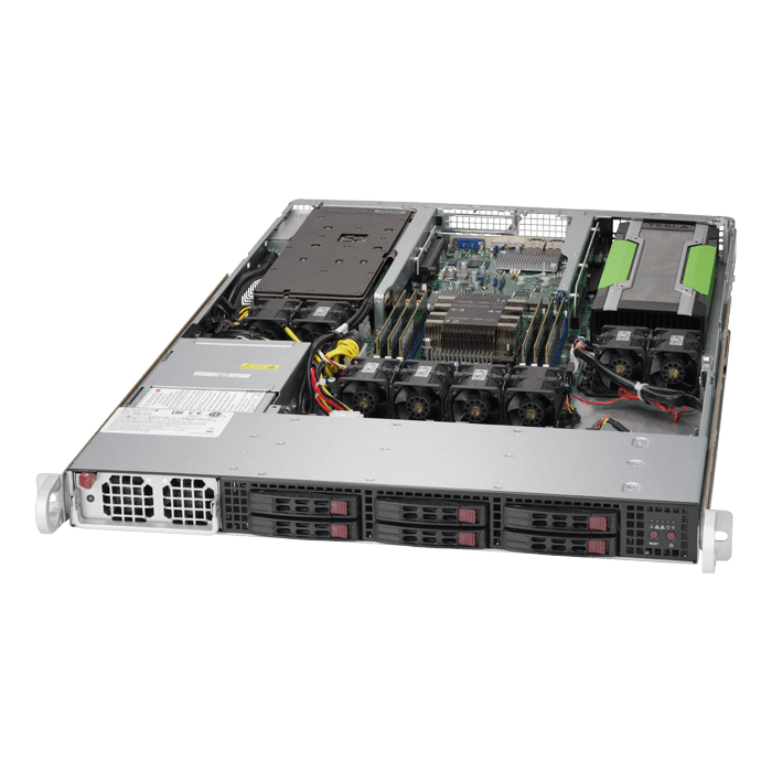 SuperServer 1019GP-TT, 1U, Intel C621, 6x SAS/SATA, 6x DDR4, Dual 10Gb Ethernet, 1400W PSU