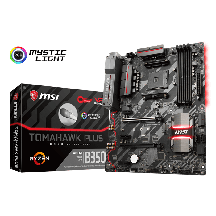 B350 TOMAHAWK PLUS, AMD B350 Chipset, AM4, HDMI, ATX Motherboard