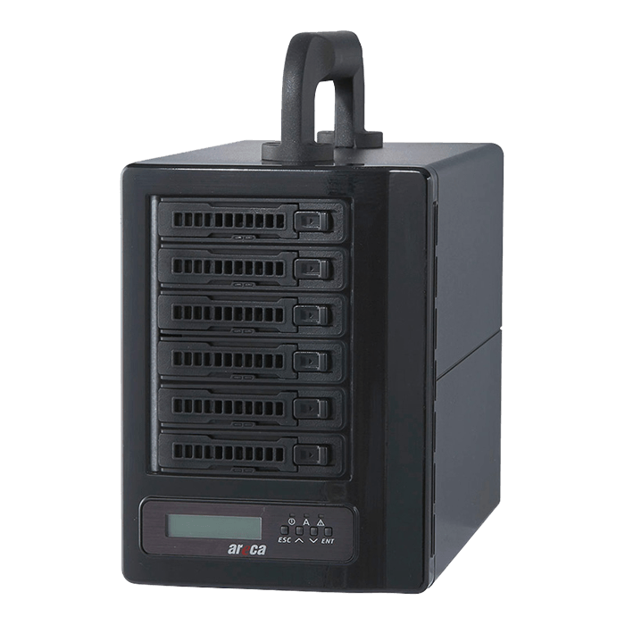 ARC-8050T3-6M-12TBSSD, 6-bay, 36TB (6x 6TB Enterprise Class HDDs), Thunderbolt 3 RAID Storage