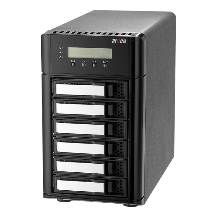 ARC-8050T3-6-48TB, 6-bay, 48TB (6x 8TB Enterprise Class HDDs), Thunderbolt 3 RAID Storage