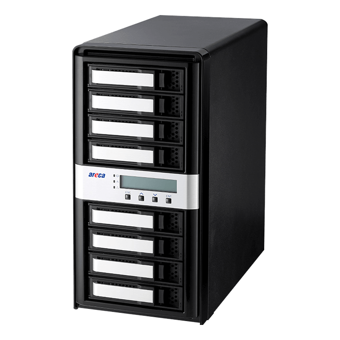 ARC-8050T3-8-32TB, 8-bay, 32TB (8x 4TB Enterprise Class HDDs), Thunderbolt 3 RAID Storage