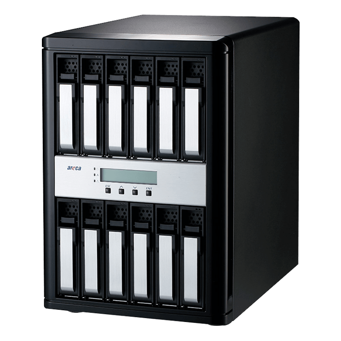 ARC-8050T3-12-48TB, 12-bay, 48TB (12x 4TB Enterprise Class HDDs), Thunderbolt 3 RAID Storage