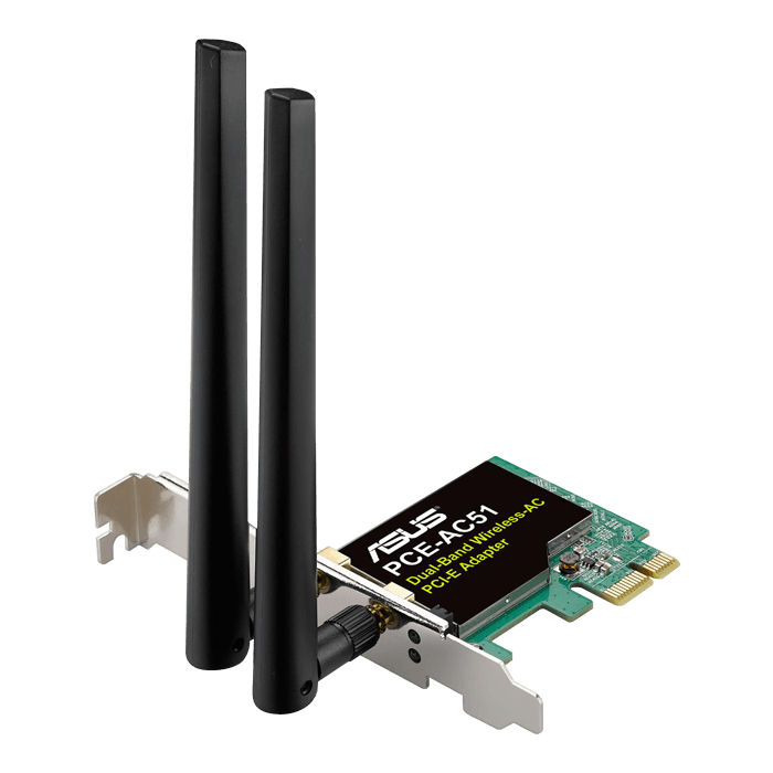 PCE-AC51, Internal, Dual-Band 2.4 / 5GHz, 300 / 433 Mbps, PCI Express 2.0 x1, Wireless Adapter