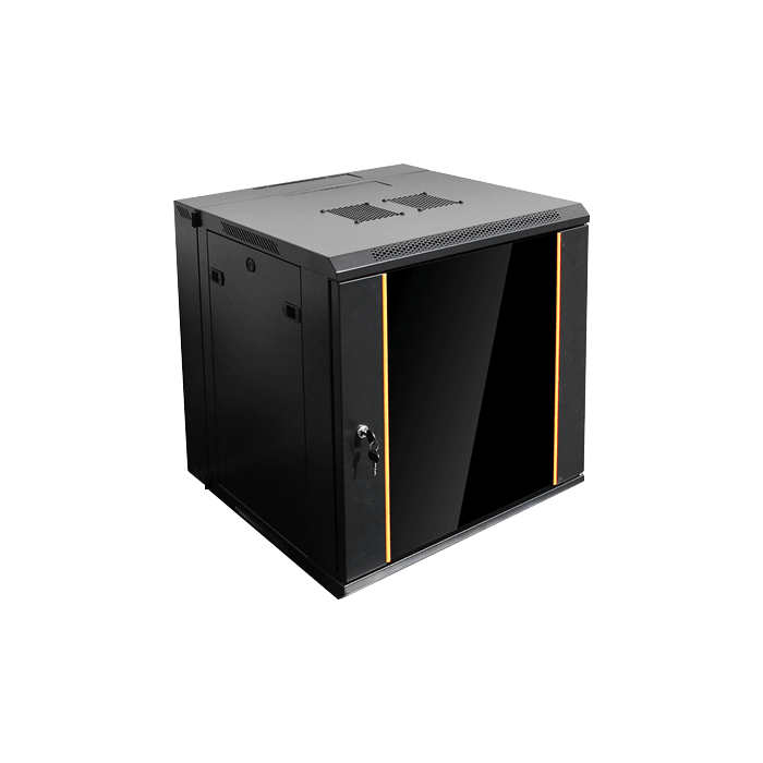 WMZ1255-CM2U, 12U, 550mm Depth, Swing-out Wallmount Server Cabinet with 2U Cable Management
