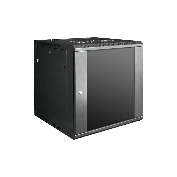 WM1260-SFH40, 12U, 600mm Depth, Wallmount Server Cabinet with 2U Supporting Tray